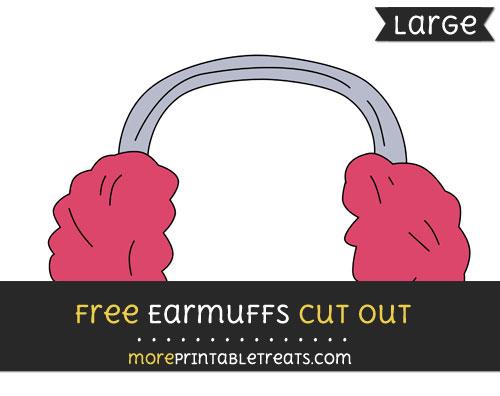 Free Earmuffs Cut Out - Large size printable