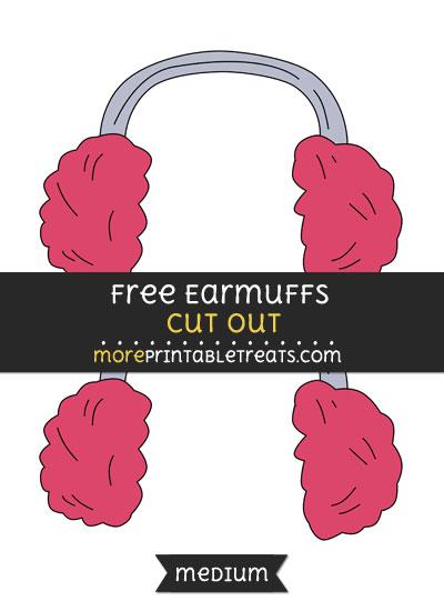 Free Earmuffs Cut Out - Medium Size Printable