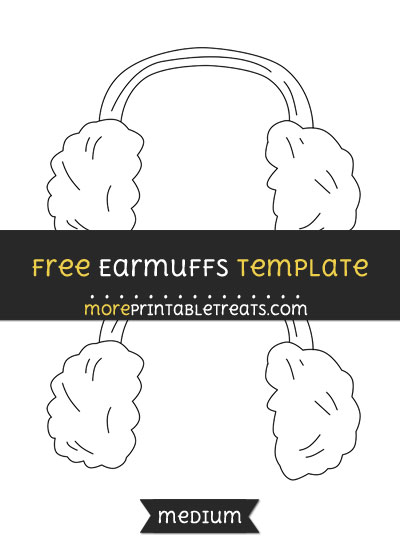 Free Earmuffs Template - Medium