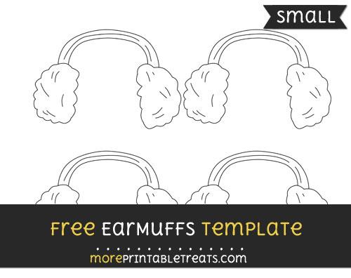 Free Earmuffs Template - Small