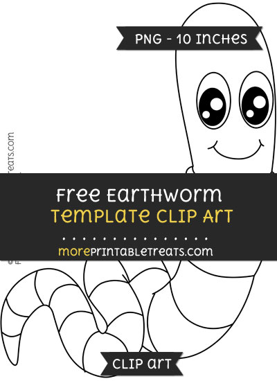 Free Earthworm Template - Clipart