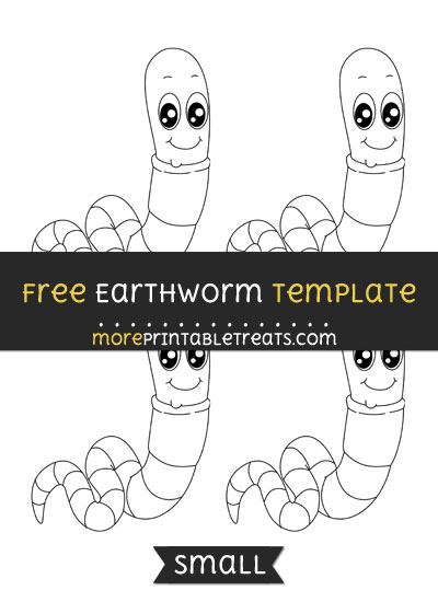 Free Earthworm Template - Small