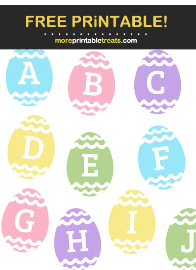 Free Printable Easter Egg Alphabet - Letters, Numbers, Punctuation