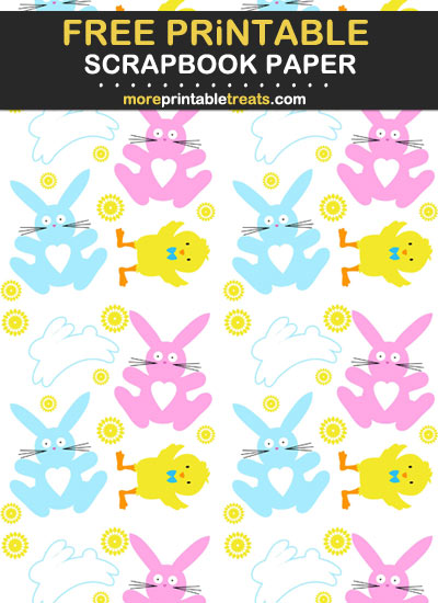 Free Printable Easter Scrapbook Paper