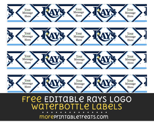 Free Editable Rays Logo Waterbottle Labels to Print