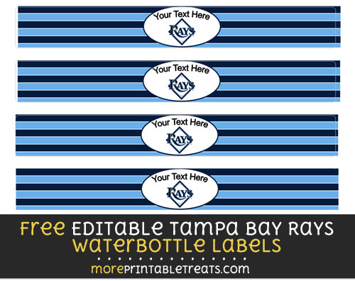 Free Editable Tampa Bay Rays Water Bottle Labels to Print