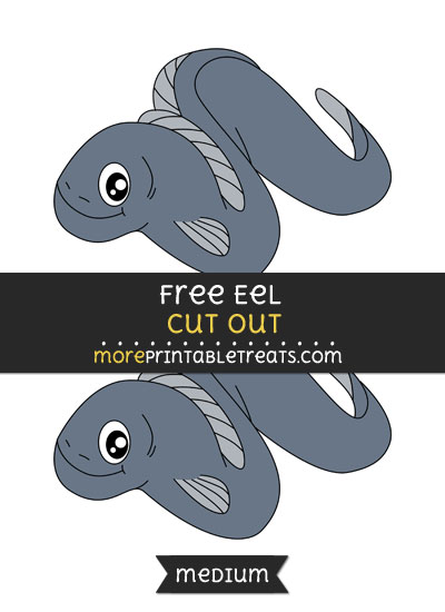 Free Eel Cut Out - Medium Size Printable