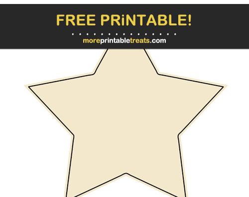 Free Printable Eggnog White Star