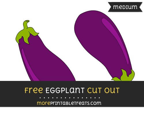 Free Eggplant Cut Out - Medium Size Printable
