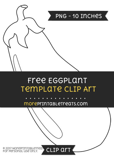 Free Eggplant Template - Clipart