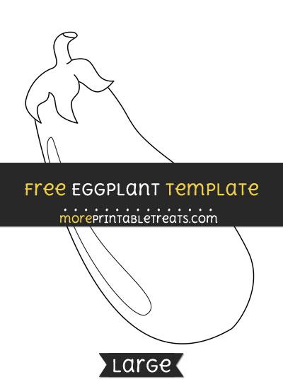 Free Eggplant Template - Large