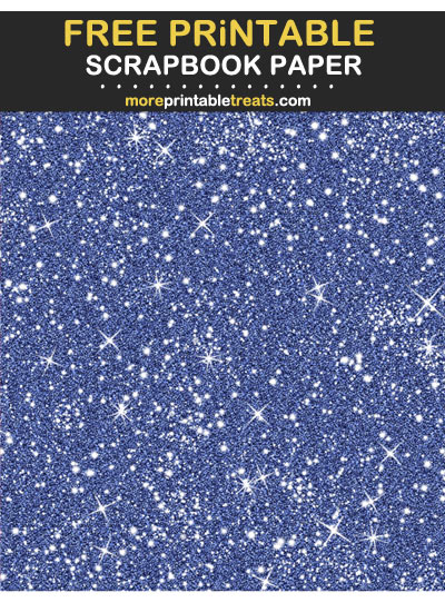 Free Printable Egyptian Blue Sparkly Glitter Scrapbook Paper