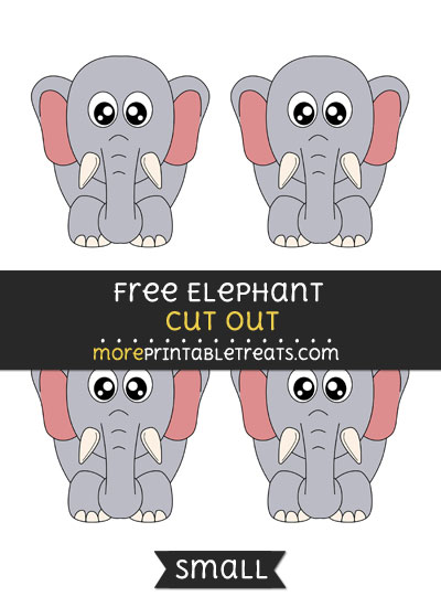 Free Elephant Cut Out - Small Size Printable