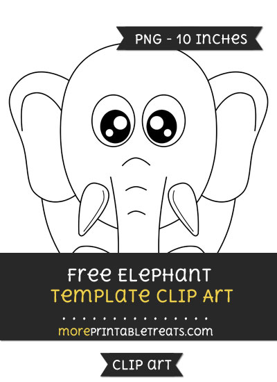 Free Elephant Template - Clipart
