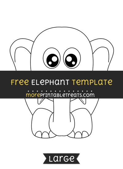 Free Elephant Template - Large