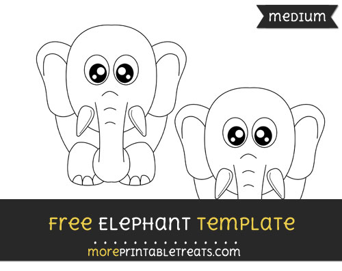 Free Elephant Template - Medium