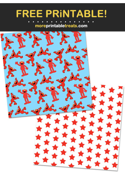 Free Printable Elmo Pattern Paper