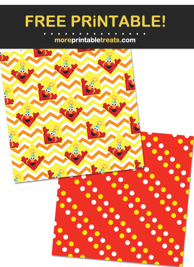 Free Printable Elmo Scrapbook Papers
