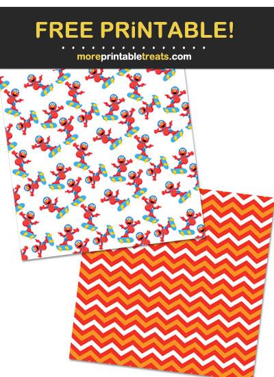 Free Printable Elmo Theme Paper