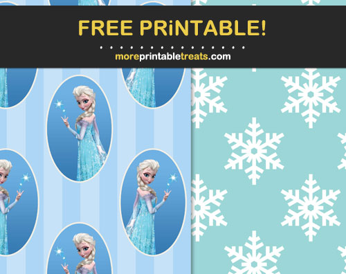 Free Printable Elsa Scrapbook Papers