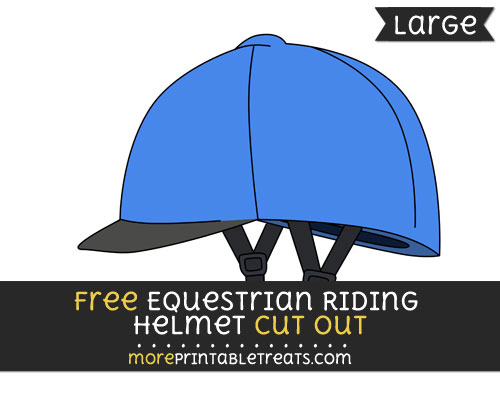 Free Equestrian Riding Helmet Cut Out - Large size printable