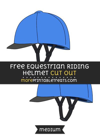 Free Equestrian Riding Helmet Cut Out - Medium Size Printable