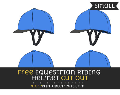 Free Equestrian Riding Helmet Cut Out - Small Size Printable