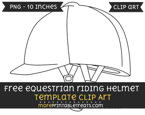 Free Equestrian Riding Helmet Template - Clipart
