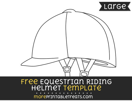 Free Equestrian Riding Helmet Template - Large