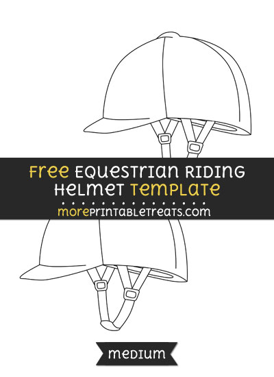 Free Equestrian Riding Helmet Template - Medium
