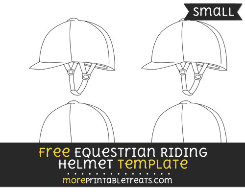 Free Equestrian Riding Helmet Template - Small