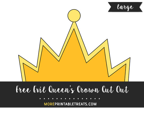 Free Evil Queen's Crown Cut Out - Large