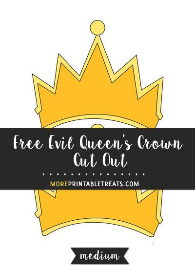 Free Evil Queen's Crown Cut Out - Medium