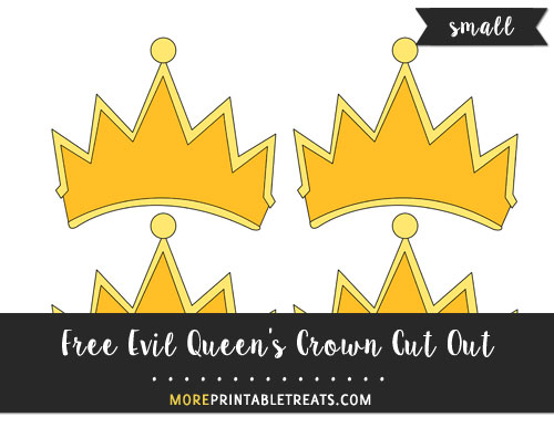 Free Evil Queen's Crown Cut Out - Small