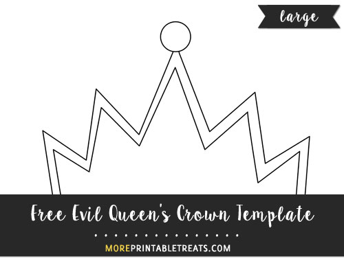 Free Evil Queen's Crown Template - Large