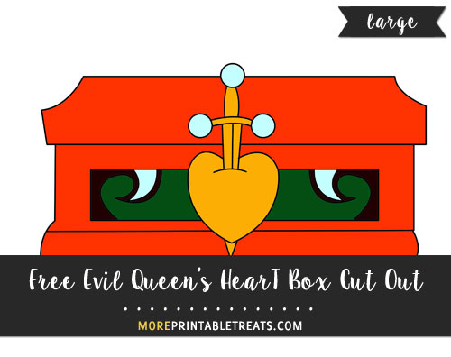 Free Evil Queen's Heart Box Cut Out - Large