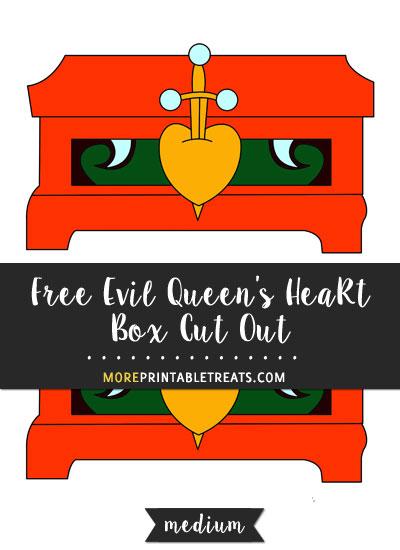 Free Evil Queen's Heart Box Cut Out - Medium