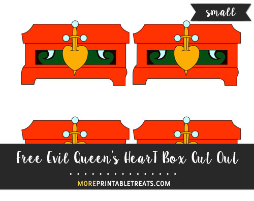 Free Evil Queen's Heart Box Cut Out - Small