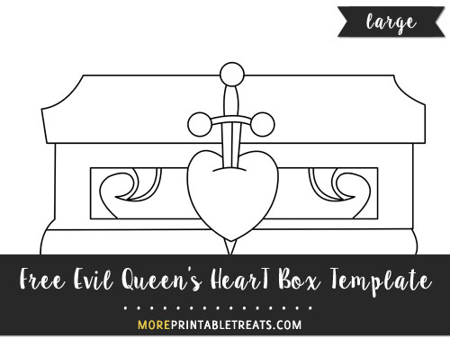 Free Evil Queen's Heart Box Template - Large