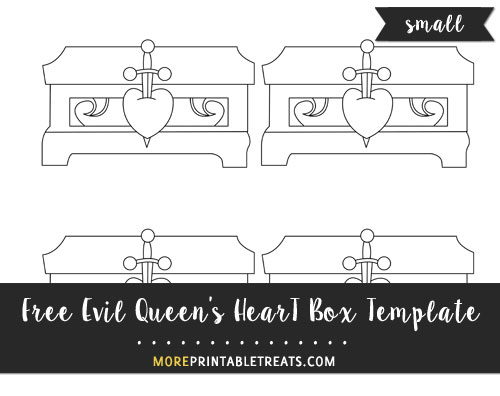 Free Evil Queen's Heart Box Template - Small Size