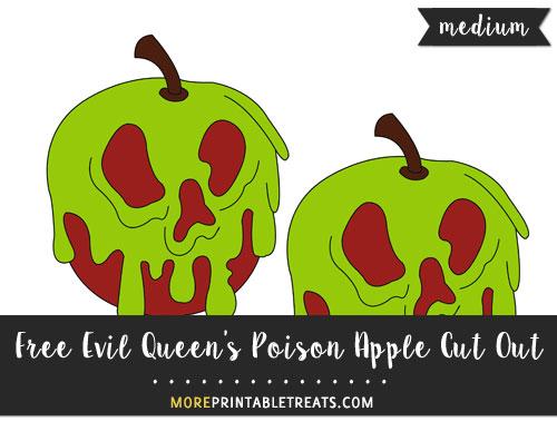 Free Evil Queen's Poison Apple Cut Out - Medium