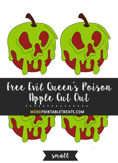 Free Evil Queen's Poison Apple Cut Out - Small
