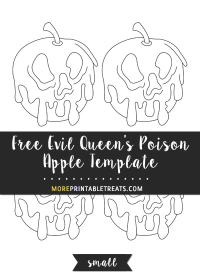 Free Evil Queen's Poison Apple Template - Small Size