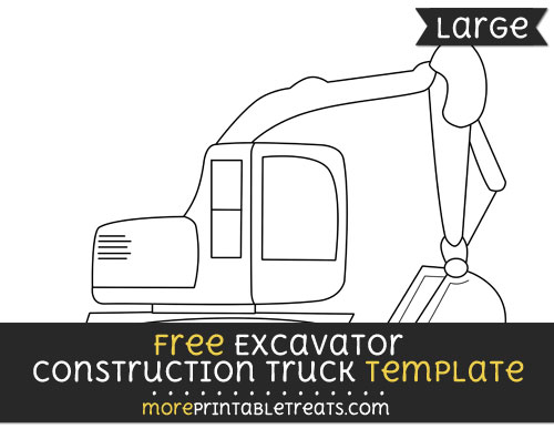 Free Excavator Construction Truck Template - Large