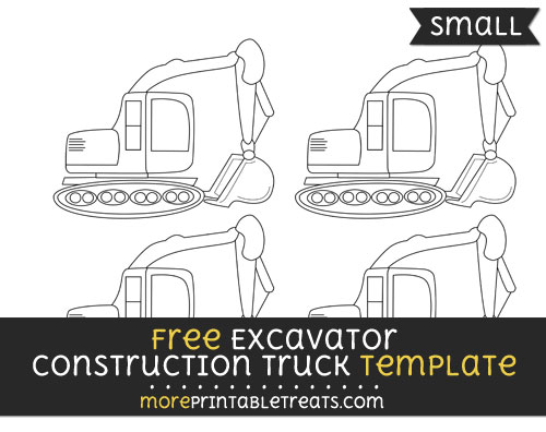 Free Excavator Construction Truck Template - Small