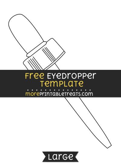 Free Eyedropper Template - Large