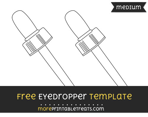 Free Eyedropper Template - Medium