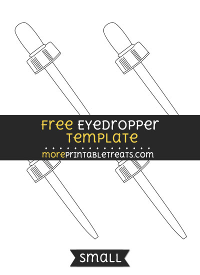 Free Eyedropper Template - Small
