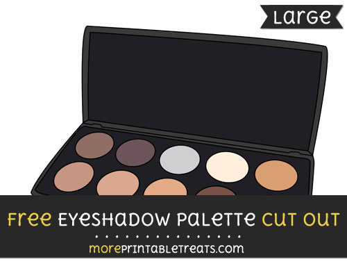 Free Eyeshadow Palette Cut Out - Large size printable