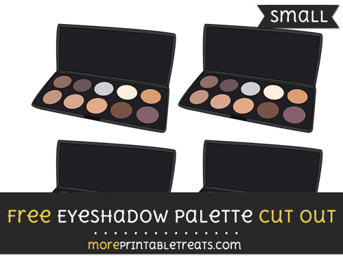 Free Eyeshadow Palette Cut Out - Small Size Printable